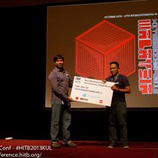 Best Windows 8 App - Zero Degrees by Fabhar (who was also the winner of HackWEEKDAY last year in Kuala Lumpur)